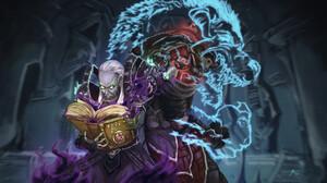 Miguel Blanco Artwork Digital Art Digital Painting Fan Art ArtStation World Of Warcraft Warlocks 3840x2205 Wallpaper