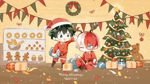 Christmas Izuku Midoriya Shoto Todoroki 1998x1242 wallpaper