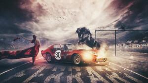 Ferrari Girl Horse 1920x1266 wallpaper