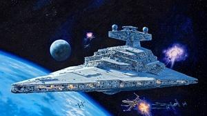 Spaceship Star Destroyer Star Wars Tie Fighter X Wing 2048x1601 Wallpaper