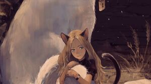 Anime Anime Girls Zen Yukisuke Vertical Cats Original Characters Fantasy Girl Tail Blonde Cat Girl C 2500x3500 Wallpaper