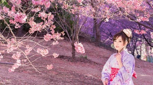 Asian Brunette Depth Of Field Girl Kimono Model Woman 2048x1278 Wallpaper