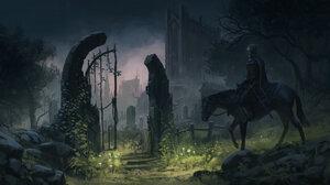 Warrior Night Cemetery 1920x1047 wallpaper