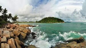 Beach Island Ocean Rock Sea Tropical 2560x1600 Wallpaper