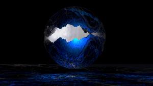 Blue Dark Light Sphere 1920x1080 Wallpaper