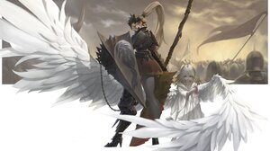 Wings Shield 4096x2585 Wallpaper