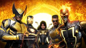 Marvel Comics Marvel Midnight Suns Midnight Suns 4K Wolverine Iron Man Ghost Rider Eric Brooks 3840x2160 Wallpaper