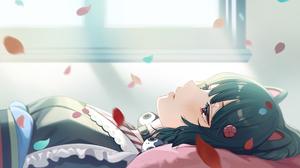 Anime Anime Girls Shigure Ui Artwork Nijisanji Virtual Youtuber Inui Toko Dog Girls Dark Hair Red Ey 1800x1013 Wallpaper