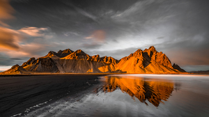 Mountains Water Landscape Photography Overcast Clouds Selective Coloring Sand Beach Swiercz Jacek 2500x1666 Wallpaper