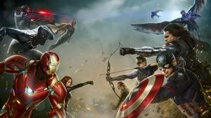Ant Man Black Panther Marvel Comics Black Widow Captain America Captain America Civil War Falcon Mar 7777x4444 Wallpaper