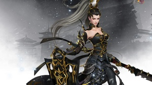 Fantasy Girl Oriental Weapon Woman Warrior 1920x1200 Wallpaper