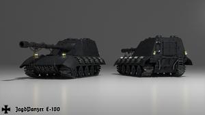 Jagdpanzer E 100 Military Vehicle Tank World War Ii German Army Lights Steel Armor 3D CGi Digital Re 2560x1440 Wallpaper