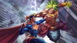 Broly Dragon Ball Crossover Dc Comics Superman 3840x2160 Wallpaper