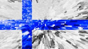 Artistic Blue Finland Flag White 2540x1693 Wallpaper