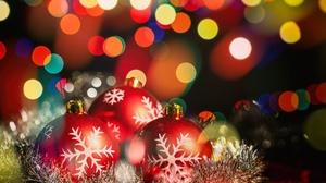 Bauble Christmas Ornaments Bokeh Light 7000x4667 Wallpaper
