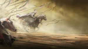 Armor Horse Knight Warrior 12000x4800 Wallpaper