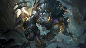 Sentinel Rengar Rengar League Of Legends League Of Legends Riot Games 4K Digital Art Jungle Hunter P 7680x4320 Wallpaper
