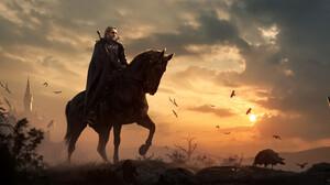 Artwork Fantasy Art The Witcher Geralt Of Rivia 3000x1411 wallpaper