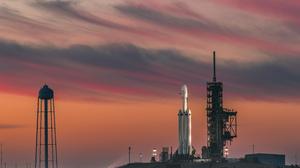 Falcon Heavy Sunset Rocket Launching Pad 3000x2143 Wallpaper