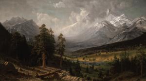 Nature Albert Bierstadt Mountains Landscape Painting Classic Art 2400x1490 Wallpaper