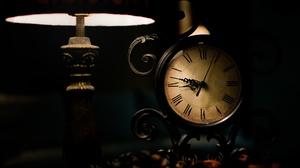 Clock Dark 2048x1339 Wallpaper