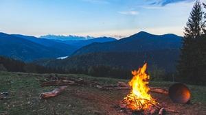 Nature Landscape Fire Campfire 1920x1280 Wallpaper