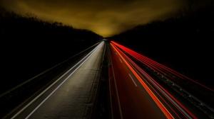 Road Night Light 2560x1707 wallpaper
