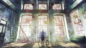 Anime Girls Room Natsu Artist Ruins 2000x1200 Wallpaper