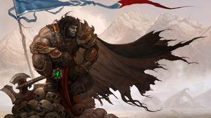 Armor Axe Banner Skull Warrior Weapon 1920x1330 Wallpaper
