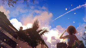 Sky Cloud Short Hair Tree 1640x1190 Wallpaper