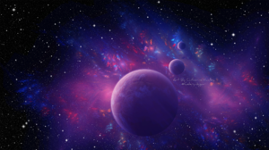 Planet Space Starry Sky 1920x1080 Wallpaper