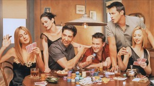 Friends TV Series Monica Geller Ross Geller Joey Tribbiani Chandler Bing Rachel Green Phoebe Buffay  1920x1080 Wallpaper