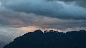 Mountains Sunset Blue Landscape Sky 3396x1910 Wallpaper