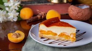 Apricot Baking Cheesecake Dessert Still Life 1920x1280 Wallpaper