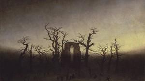 Painting Landscape Gothic Caspar David Friedrich 4000x2563 Wallpaper
