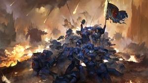 Armor Battle Flag Space Marine Warhammer 40k Warrior Weapon 1920x1230 Wallpaper