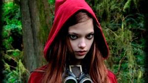 Women Women Outdoors Steampunk Hoods Model Redhead 1422x800 Wallpaper