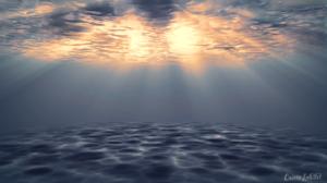 Water Underwater Watermarked Digital 1920x1080 Wallpaper