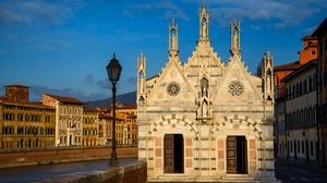 Italy Pisa Santa Maria Della Spina 3072x2051 Wallpaper