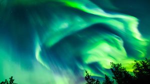 Aurora Borealis Light Night Sky 3000x2000 wallpaper