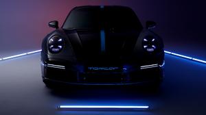 Porsche Porsche 911 Porsche Turbo TopCar Grey Cars Vehicle Car Sports Car Neon Low Light 3840x2160 Wallpaper