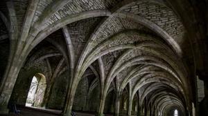 Architecture Arch Interior Hallway England Monastery Fountains Abbey Empty 1920x1280 Wallpaper
