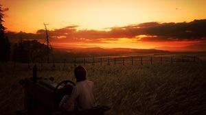 Ellie The Last Of Us Ellie Williams The Last Of Us 2 Farm House Sunrise Orange Sky Video Games Video 1920x1080 Wallpaper