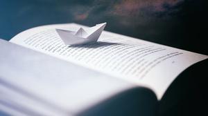 Book Macro Origami Paper Boat 2500x1669 Wallpaper