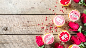Cupcake Flower Love Rose Still Life Valentine 039 S Day 7360x4912 Wallpaper
