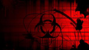 Biohazard Dark Red 1600x1200 wallpaper