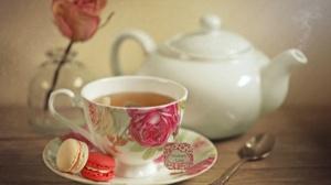 Cup Drink Macaron Tea Teapot 2048x1347 Wallpaper