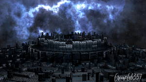 Space Art Fantasy Art City Ancient Alien Attack 1920x1080 Wallpaper