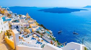 Ionian Sea Ocean Greece Horizon 4210x2631 Wallpaper
