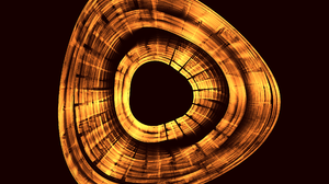 Abstract Apophysis Software Artistic Bronze Digital Art Fractal Shapes 2560x1920 wallpaper